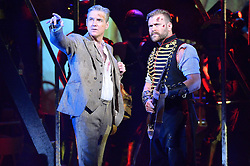 © Licensed to London News Pictures. 12/02/2016. © Licensed to London News Pictures. 12/02/2016. Cast members MICHAEL PRAED and DANIEL BEDINGFIELD appear in costume for a photocall for H.G Wells classic War Of The Wells at the Dominion Theatre.  London, UK. Photo credit: Ray Tang/LNP