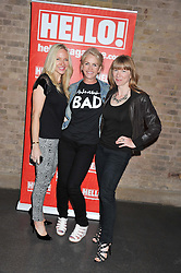 Left to right, ROSIE NIXON, CHARLOTTE STOCKTING and RUTH SULLIVAN at a party hosted by the Hello! magazine advertising department to celebrate 25 years of Hello! Magazine held at the London Film Museum, Covent Garden,London on 9th May 2013.