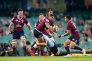 SYDNEY, NSW - MARCH 09: Reds player Chris Feauai-Sautia (14) gets the ball to Reds player Duncan Paia'aua (12) at round 4 of Super Rugby between NSW Waratahs and Queensland Reds on March 09, 2019 at The Sydney Cricket Ground, NSW. (Photo by Speed Media/Icon Sportswire)