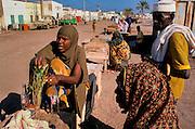 Woman selling quat in the market in Obock. Djibouti 1997