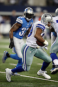 Dallas Cowboys running back DeMarco Murray (29) runs the ball in the third quarter during the NFL week 18 NFC Wild Card postseason football game against the Detroit Lions on Sunday, Jan. 4, 2015 in Arlington, Texas. The Cowboys won the game 24-20. ©Paul Anthony Spinelli