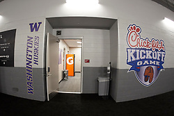 General images prior to the Chick-fil-A Kickoff Game between the Auburn Tigers and the Washington Huskies at Mercedes-Benz Stadium, Saturday, September 1, 2018, in Atlanta. (Paul Abell via Abell Images for Chick-fil-A Kickoff)