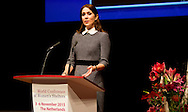 5-11-2015 - THE HAGUE - Princess Mary delivers a speech at the Third World Conference of Women's Shelters in the World Forum in The Hague  COPYRIGHT ROBIN UTRECHT