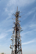 communication tower at Castel Sant'Elmo  in Naples Italy