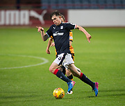 Dundee&rsquo;s Callum Moore goes past Alloa Athletic's Thomas Grant - Dundee under 20s v Alloa Athletic in the Irn Bru Cup Round 1 at Dens Park, Dundee - photograph by David Young<br /> <br />  - &copy; David Young - www.davidyoungphoto.co.uk - email: davidyoungphoto@gmail.com