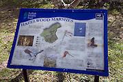 Suffolk Wildlife Trust information board, Hazelwood Marshes, Aldeburgh, Suffolk