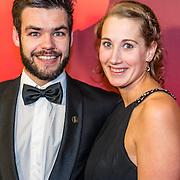 NLD/Amsterdam/20161221 - NOC*NSF Sportgala 2016, Sjinkie Knegt en partner