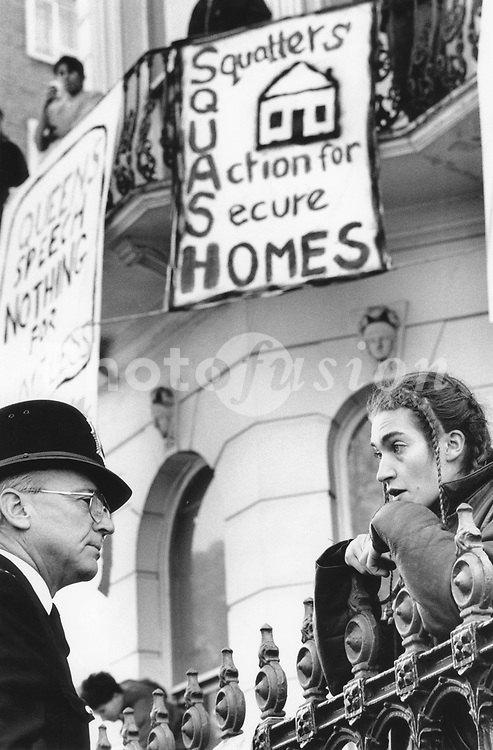 Demo against new law in Criminal Justice and Public Order Act introduced to stop squatting November  1994 Kensington,