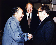 Copy of President Ford  Secretary of State Henry Kissinger  with Mao Tse-Tung; Chairman of Chinese Communist Party, during a visit to the Chairman's residence
