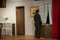 """Dress rehearsal for """"Arsenic and Old Lace"""" at Laconia High School.    Karen Bobotas/for the Laconia Daily Sun"""