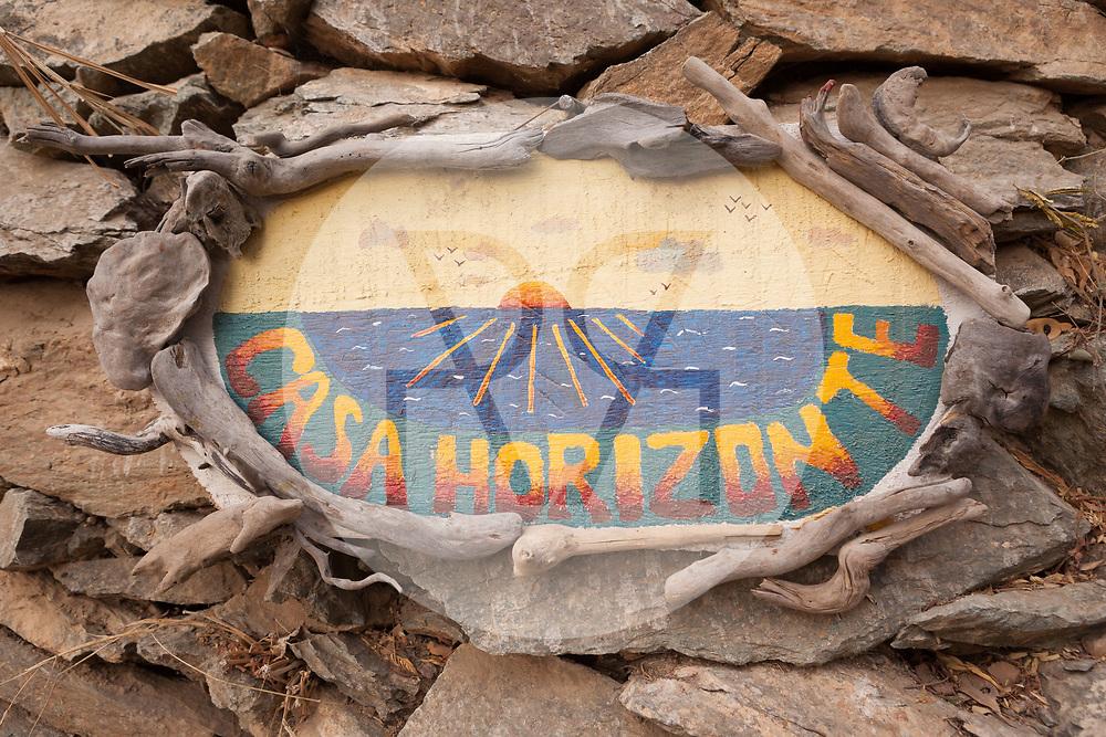 KOLUMBIEN - TAGANGA - Schild von Hostel Casa Horizonte - 3. April 2014 © Raphael Hünerfauth - http://huenerfauth.ch
