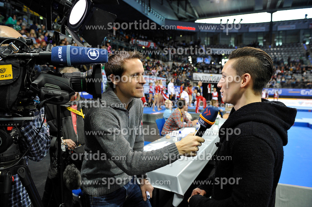 30.11.2012, Porsche Arena, Stuttgart, GER, EnBW Turn Weltcup, 30. DTB Pokal, Team Wettbewerb, Qualifikation Frauen, im Bild Marcel NGUYEN GER gibt Interview // during qualifying women of Team competition of EnBW Gymnastics World Cup at the Porsche Arena, stuttgart, Germany on 2012/11/30. EXPA Pictures © 2012, PhotoCredit: EXPA/ Eibner/ Weber..***** ATTENTION - OUT OF GER *****