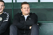 Forest Green Rovers manager, Mark Cooper during the EFL Sky Bet League 2 match between Yeovil Town and Forest Green Rovers at Huish Park, Yeovil, England on 8 December 2018.