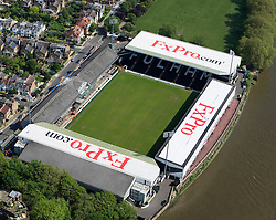 Image ©Licensed to i-Images Picture Agency. Aerial views. United Kingdom.<br /> Craven Cottage, home of Fulham FC. Picture by i-Images