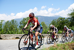 Julia Soek (NED) on the first climb of Stage 5 of 2019 Giro Rosa Iccrea, a 88.8 km road race from Ponte in Valtellina to Lago di Cancano, Italy on July 9, 2019. Photo by Sean Robinson/velofocus.com