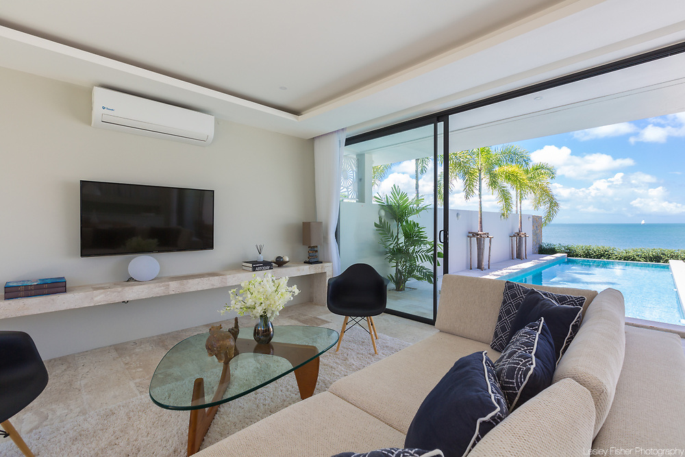 Living area at Villa Song, a 2 bedroom beach front villa located in Plai Laem, Koh Samui, Thailand