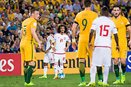 March 28 2017: United Arab Emirates Omar ABDULRAHMAN (21) gets ready to take the free kick at the 2018 FIFA World Cup Qualification match, between The Socceroos and UAE played at Allianz Stadium in Sydney.