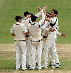 Middlesex celebrate Middlesex's Steven Finn wicket of Durham's John Hastings - Photo mandatory by-line: Robbie Stephenson/JMP - Mobile: 07966 386802 - 04/05/2015 - SPORT - Football - London - Lords  - Middlesex CCC v Durham CCC - County Championship Division One