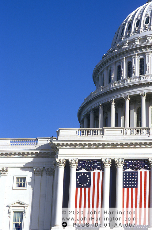 Details of the US Capitol.
