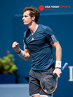 Aug 4, 2014; Toronto, Ontario, Canada;  Andy Murray (GBR) -  The Rogers Cup at Rexall Centre. Mandatory Credit: Peter Llewellyn-USA TODAY Sports