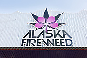 The Alaska Fireweed Cannabis shop along 4th Avenue in downtown Anchorage, Alaska. Recreational and medical use of cannabis is legal in Alaska.