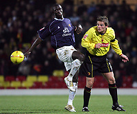 Fotball<br /> Foto: SBI/Digitalsport<br /> NORWAY ONLY<br /> <br /> Watford v Wolverhampton Wanderers<br /> The Coca-Cola Football League Championship. <br /> Vicarage Road Stadium.<br /> 11/12/2004<br /> <br /> l-r Wolves' Carl Cort and Watford's Neal Ardley