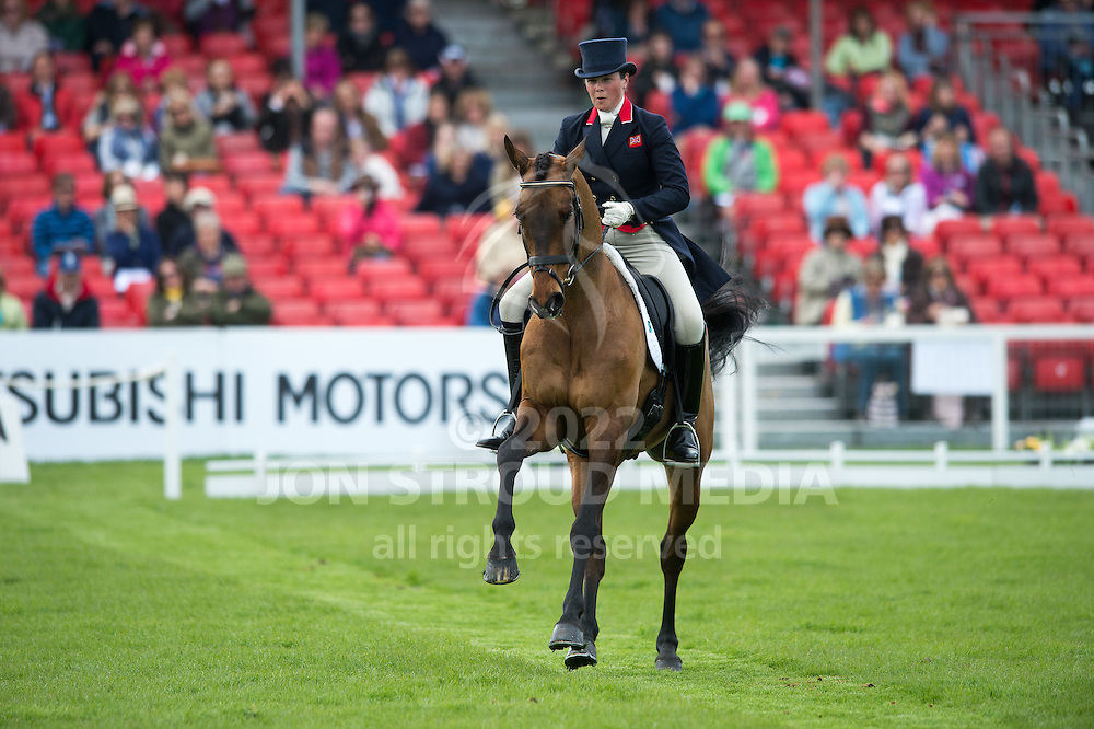 Lucy Weigersma (GBR) & Simon Porloe - Dressage - Mitsubishi Motors Badminton Horse Trials - CCI4* - Badminton, Gloucestershire, United Kingdom - 03 May 2013