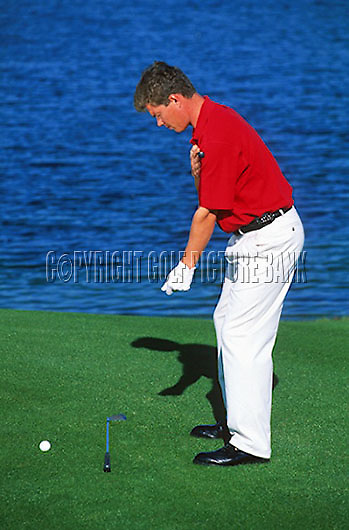 Simon Holmes tuition. Golf address and posture <br /> Picture Credit Nick Walker; Golf Picture bank
