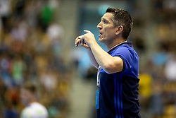 Yohan Delattre, head coach of France during handball match between National teams of France and Slovenia in Final of 2018 EHF U20 Men's European Championship, on July 29, 2018 in Arena Zlatorog, Celje, Slovenia. Photo by Urban Urbanc / Sportida