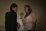 James Lindon and Clemency Burton-Hill, Party to launch High Tide Writers Festival which will be held in Halesworth, Suffolk. Adam St. Club. 10 January 2007.  -DO NOT ARCHIVE-© Copyright Photograph by Dafydd Jones. 248 Clapham Rd. London SW9 0PZ. Tel 0207 820 0771. www.dafjones.com.