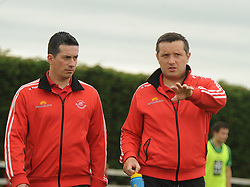 Ballintubber&rsquo;s Lynden Reilly and John Feeney<br />Pic Conor McKeown