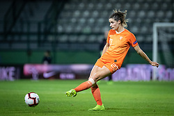 Dominique Bloodworth of Nederland  during football match between Slovenia and Nederland in qualifying Round of Woman's qualifying for EURO 2021, on October 5, 2019 in Mestni stadion Fazanerija, Murska Sobota, Slovenia. Photo by Blaž Weindorfer / Sportida