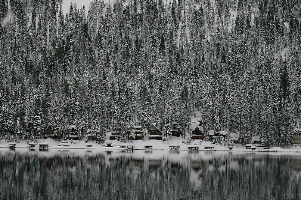Homes at Donner Lake after a winter storm January 9, 2008.