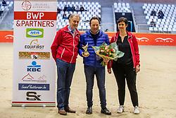 Van Waes Maarten, BEL, Bauters Jozef, De Greeff Lieve<br /> BWP hengstenkeuring 2019<br /> 3de phase - Sentower Park - Opglabeek 2019<br /> © Hippo Foto - Dirk Caremans<br /> 16/03/2019