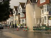 Burst water main, St Leonards on Sea. 17 March 2020