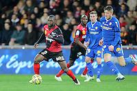 Yannis SALIBUR / Baptiste GUILLAUME - 10.01.2015 - Guingamp / Lens - 20eme journee de Ligue 1<br />Photo : Vincent Michel / Icon Sport