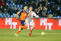 Sebastien CORCHIA / Morgan SANSON - 07.02.2015 - Montpellier / Lille - 24eme journee de Ligue 1<br /> Photo : Andre Delon / Icon Sport