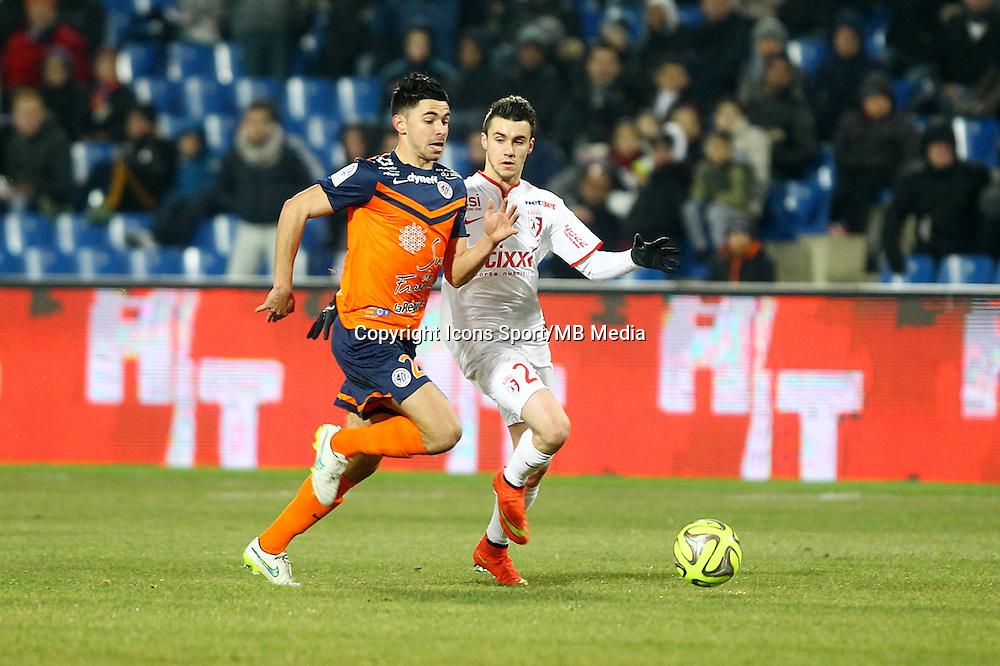 Sebastien CORCHIA / Morgan SANSON - 07.02.2015 - Montpellier / Lille - 24eme journee de Ligue 1<br /> Photo : Andre Delon / Icon Sport