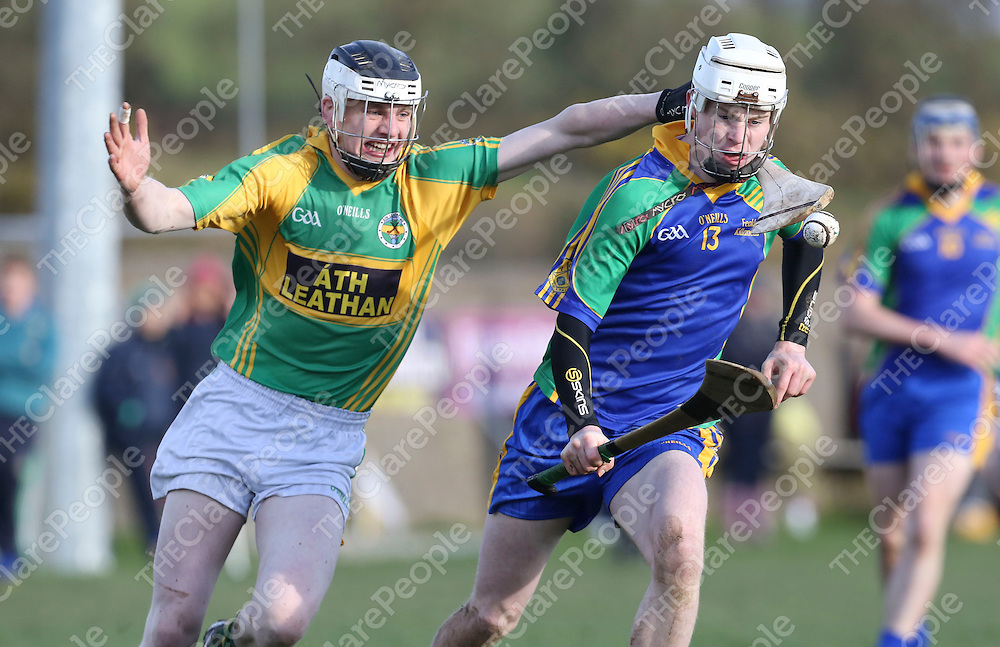 Feakle-Killanena No 13 &amp; Broadford No 2 in action during their Game played in Tulla.<br /> Pictured Credit Brian Gavin Press 22