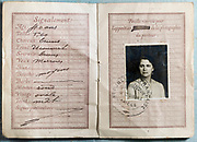French passport document from 1928
