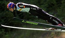 Jurij Tepes of Slovenia at FIS Continental cup Ski-jumping Summer Kranj, on July 6, 2008, Kranj, Slovenia. (Photo by Vid Ponikvar / Sportal Images)<br /> <br /> / Sportida)
