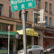 Maynard Alley sign, Chinatown, International District, Seattle, Washington