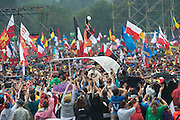 KRAKOW, POLAND 28 JULY: Pope Francis greets the WYD Pilgrims at the 31st Annual Event in the home town of Saint John Paul II.