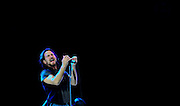Pearl Jam play at the Adelaide Oval. Photo by Luke Hemer/Messenger Community News. Copyright News Corp Australia.