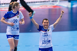 14-12-2018 FRA: Women European Handball Championships Russia - Romania, Paris<br /> First semi final Russia - Romania 28 - 22 / Marina Sudakova #15 of Russia