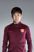 Portrait of Chinese soccer player Jin Chengjun of Yanbian Funde F.C. for the 2017 Chinese Football Association Super League, in Namhae County, South Gyeongsang Province, South Korea, 11 February 2017.