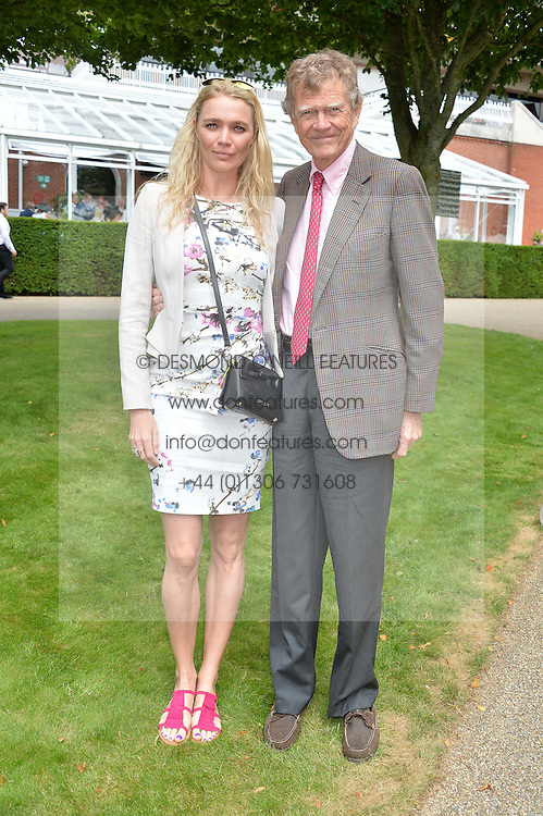 JODIE KIDD and her father JOHNNY KIDD at day 3 of the Qatar Glorious Goodwood Festival at Goodwood Racecourse, Chechester, West Sussex on 28th July 2016.