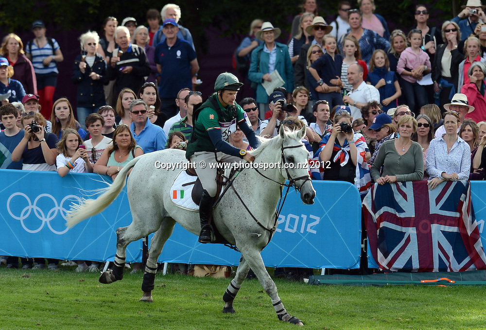Ireland's Mark Kyle on Coolio during the Eventing Cross Country. Equestrian at Greenwich Park. Olympic Games, London. United Kingdom. Monday 30 July 2012. Photo: Andrew Cornaga / Photosport.co.nz