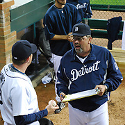 Detroit Tigers Zach Miner and bullpen coach Jeff Jones<br /> Detroit Tigers pitcher Zach Miner and bullpen coach Jeff Jones.