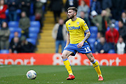 Leeds United midfielder Stuart Dallas (15)  during the EFL Sky Bet Championship match between Birmingham City and Leeds United at St Andrews, Birmingham, England on 6 April 2019.